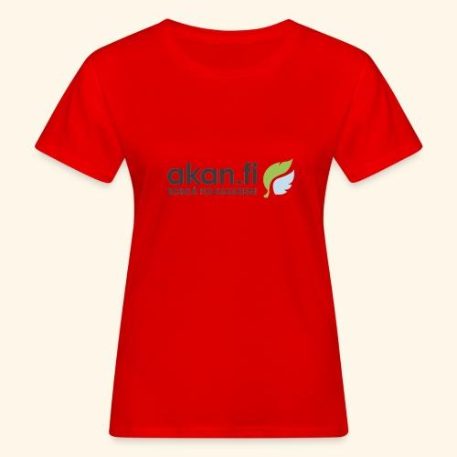 Akan Black - Naisten luonnonmukainen t-paita