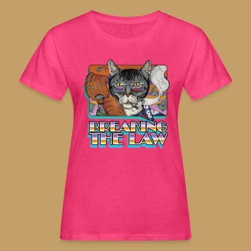 Crime Cat- Breaking the Law - Ekologiczna koszulka damska