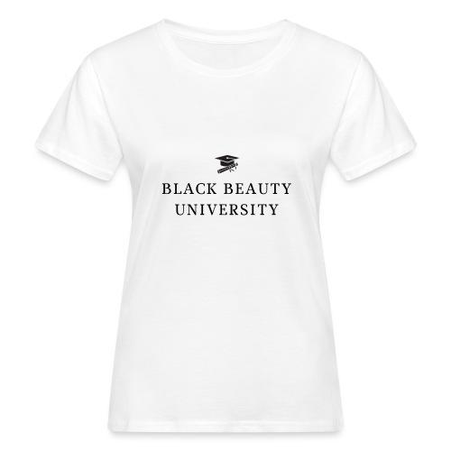 BLACK BEAUTY UNIVERSITY LOGO BLACK - T-shirt bio Femme