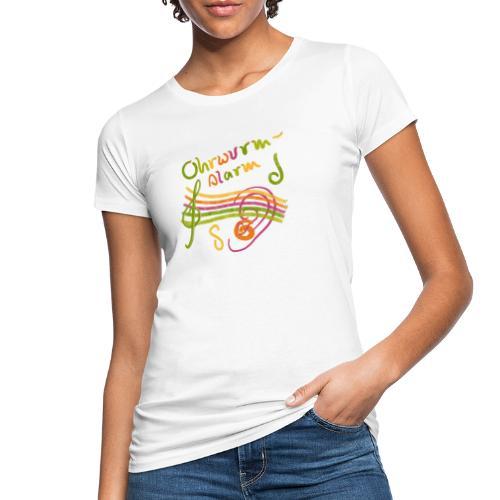 Ohrwurm Alarm Musiknoten und Würmer - Frauen Bio-T-Shirt