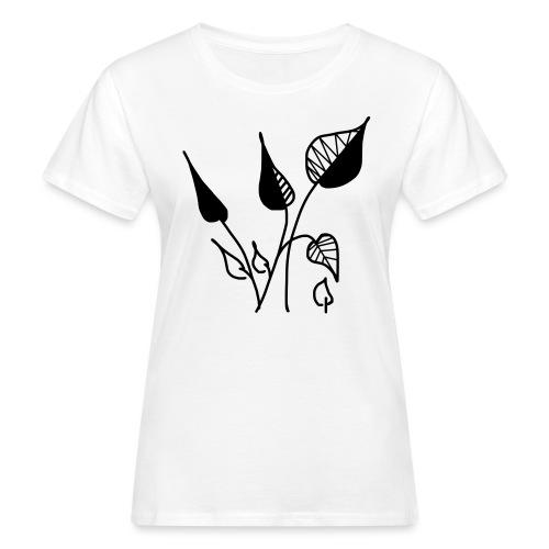 Minimalistic leaves - Frauen Bio-T-Shirt