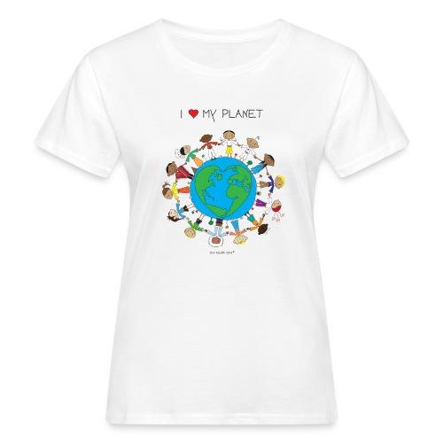 The Little Yogi - I love my planet - Women's Organic T-Shirt