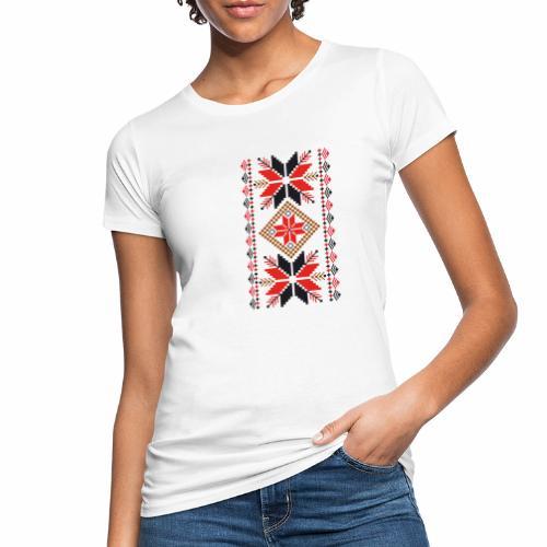 Ornament ludowy - Ekologiczna koszulka damska