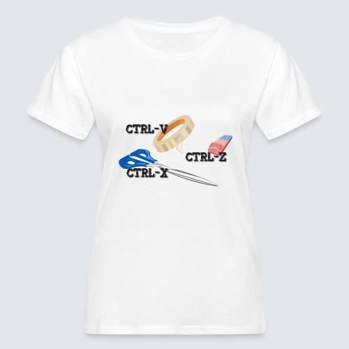 ctrl-c ctrl-x ctrl-z - Frauen Bio-T-Shirt