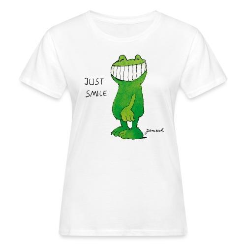 Janoschs Günter Kastenfrosch Just Smile - Frauen Bio-T-Shirt