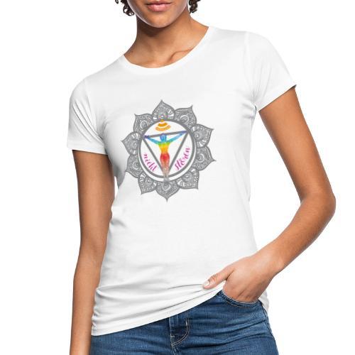 Yoga-Sonnengruß-Chakra - Frauen Bio-T-Shirt