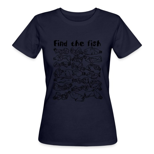 ECO ocean plastic bottles pollution find the fish - Women's Organic T-Shirt