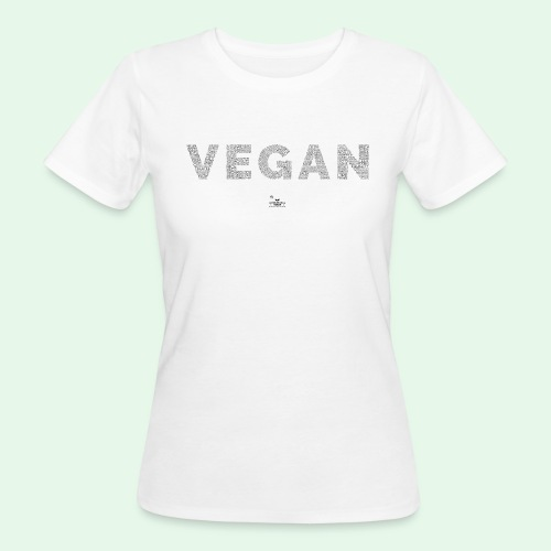 Vegan - Black - Ekologisk T-shirt dam