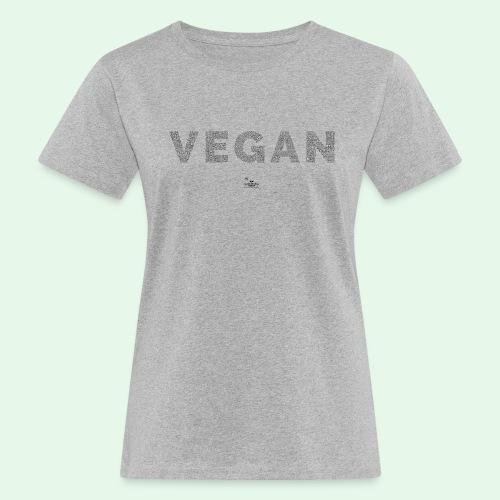 Vegan - Black - Ekologisk T-shirt dam