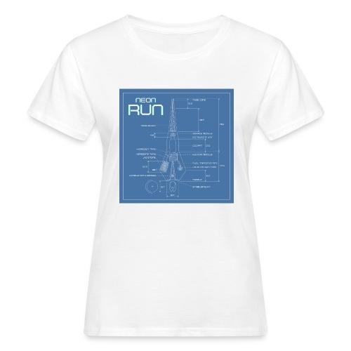 NeonRun blueprint - Vrouwen Bio-T-shirt