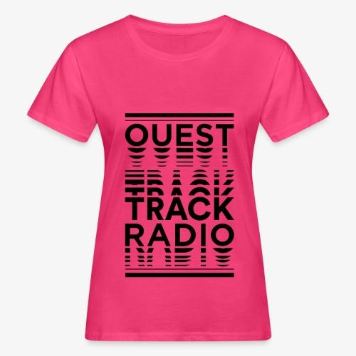 Logo Vertical Grand Noir - T-shirt bio Femme