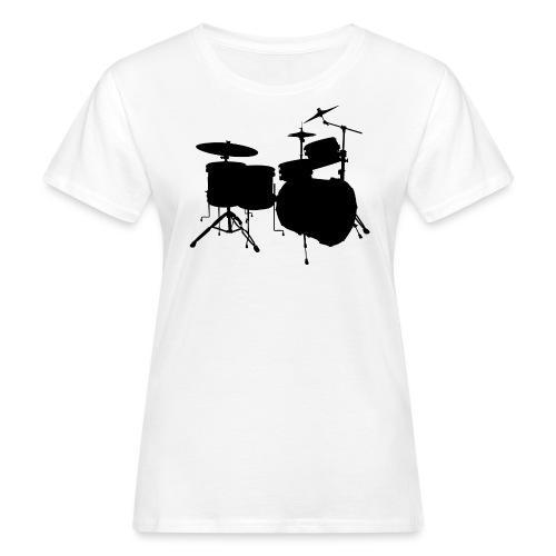 Drumset 2 Kontur schwarz - Frauen Bio-T-Shirt