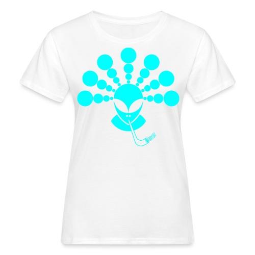 The Smoking Alien Light Blue - Women's Organic T-Shirt