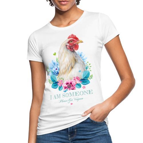 Hen with flowers - Women's Organic T-Shirt