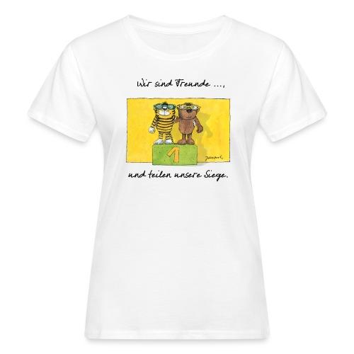 Janoschs 'Wir sind Freunde, und teilen ...' - Frauen Bio-T-Shirt