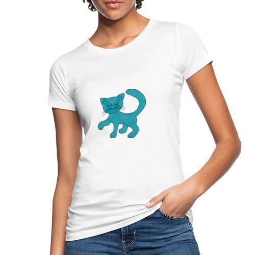 Spirituell anmutende Katze in Türkis mit Muster - Frauen Bio-T-Shirt