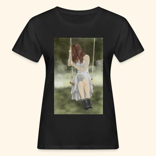 Sad Girl on Swing - Women's Organic T-Shirt