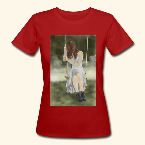 Sad Girl on Swing - Women's Organic T-Shirt