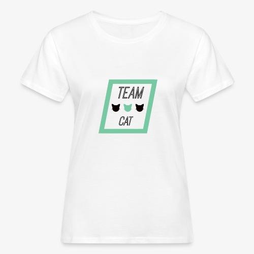 Team Cat - Slogan Tee - Ekologiczna koszulka damska