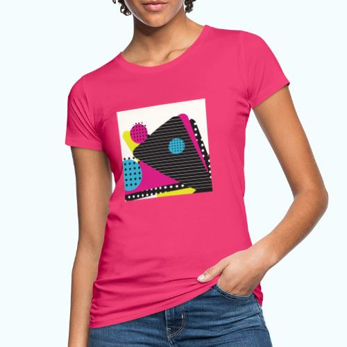 Abstract vintage shapes pink - Women's Organic T-Shirt