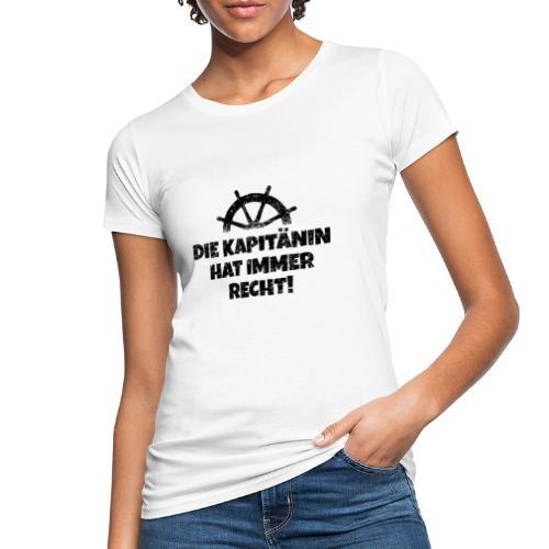 Die Kapitänin hat immer Recht Boot & Segeln - Frauen Bio-T-Shirt