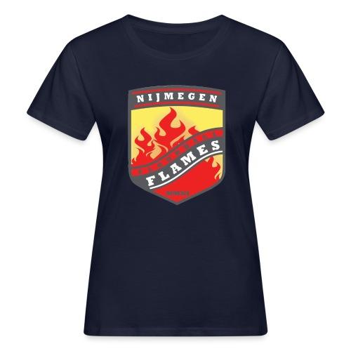 Hoodie Black - Red inner contrast - Vrouwen Bio-T-shirt