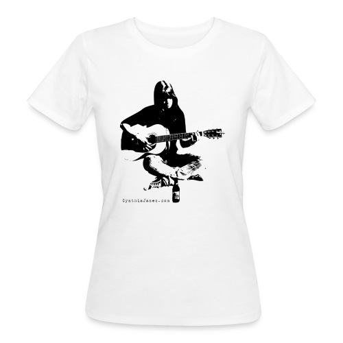 Cynthia Janes guitar BLACK - Women's Organic T-Shirt