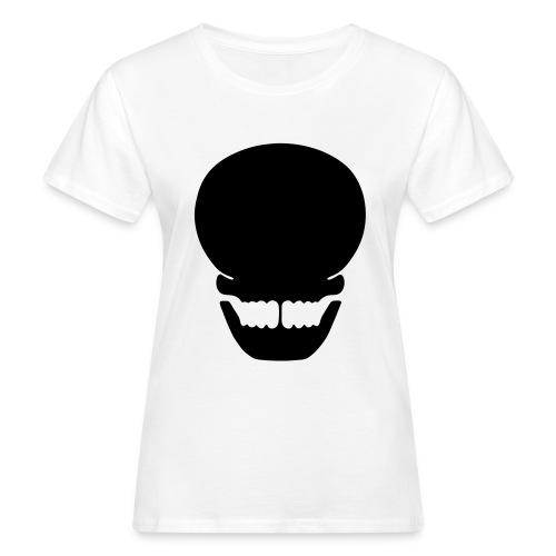 Totenkopf siuette - Frauen Bio-T-Shirt