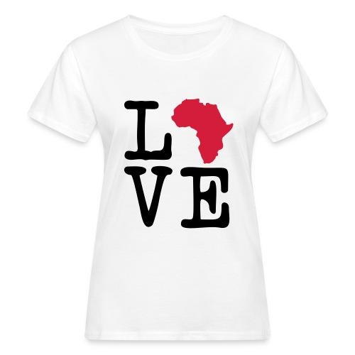I Love Africa, I Heart Africa - Women's Organic T-Shirt