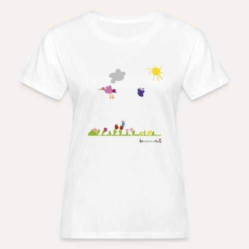 Blumenwiese von Marie - Frauen Bio-T-Shirt