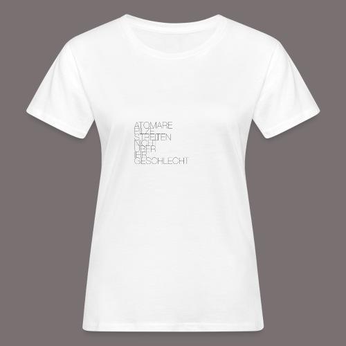 Atomare Pilze streiten nicht über ihr Geschlecht. - Frauen Bio-T-Shirt