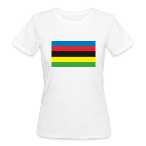 Cycling_World_Champion_Rainbow_Stripes-png - Vrouwen Bio-T-shirt