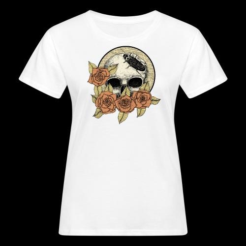 Rose et tête de mort - T-shirt bio Femme
