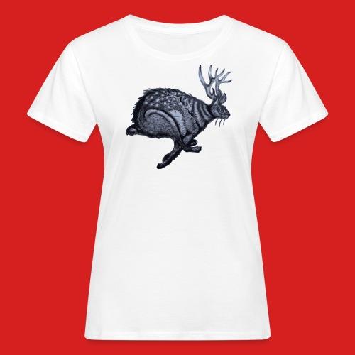 Fabel Hirsch Hase - Frauen Bio-T-Shirt