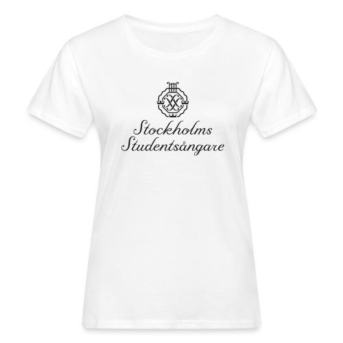 SSSF logo / emblem + namn (svart) - Ekologisk T-shirt dam