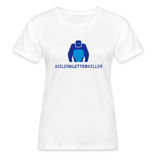 KielerKletterKeller e.V. Logo - Blau - Frauen Bio-T-Shirt
