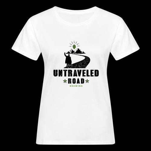 Untraveled Road Logo - schwarz/grün - Frauen Bio-T-Shirt