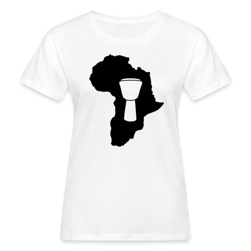 Djembe in Afrika - Frauen Bio-T-Shirt