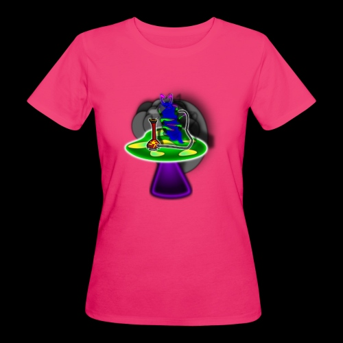 Hookah rauchende Raupe - Frauen Bio-T-Shirt