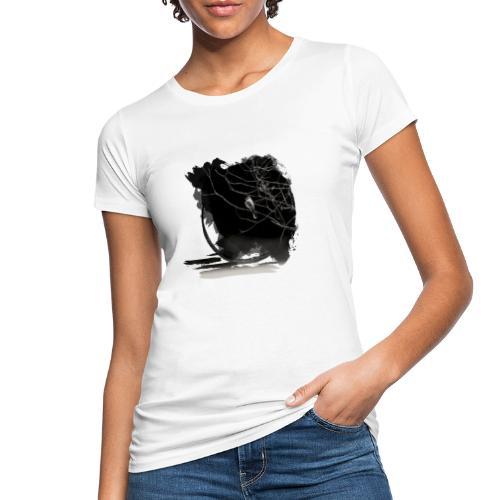bird in zen circle above water bird on branch Zen - Women's Organic T-Shirt