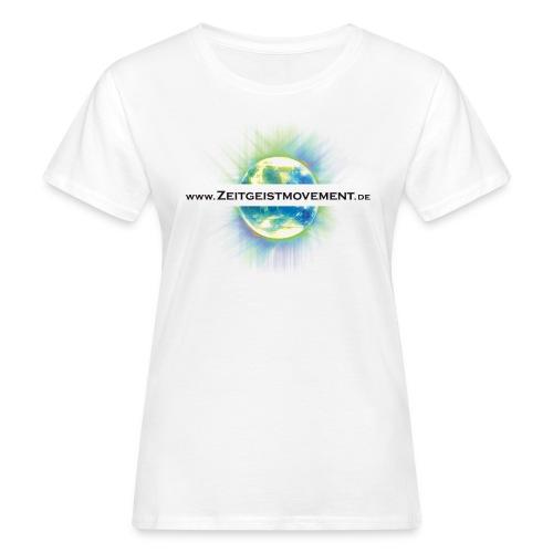 zeitgeist vorne weiss png - Frauen Bio-T-Shirt