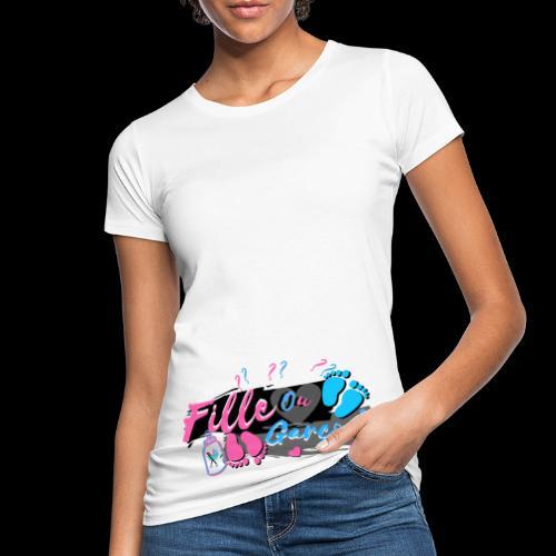 fille ou garçon femme enceinte bébé naissance - T-shirt bio Femme