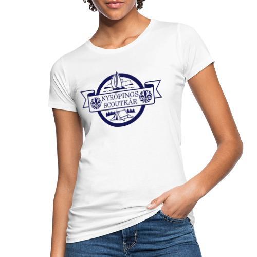 Kårlogotyp med bakgrund (blå) - Ekologisk T-shirt dam