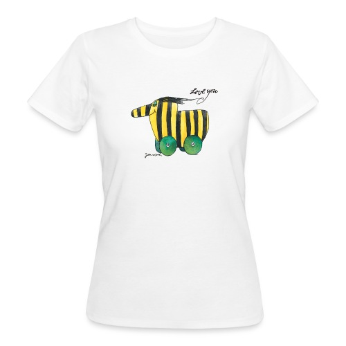 Janosch Tigerente Love you - Frauen Bio-T-Shirt