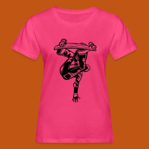Skater / Skateboarder 03_schwarz - Frauen Bio-T-Shirt