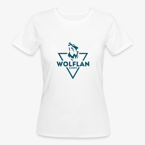WolfLAN Logo Gray/Blue - Women's Organic T-Shirt
