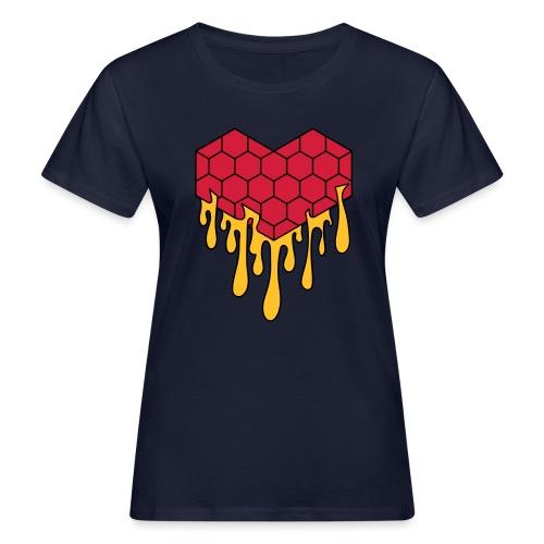 Honey heart cuore miele radeo - T-shirt ecologica da donna