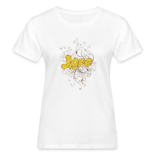 Scritta Love con decorazione - T-shirt ecologica da donna