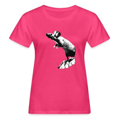 Seisova nakuhiiri - mustavalko - Naisten luonnonmukainen t-paita