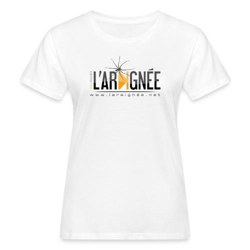 L'ARAIGNÉE, logo noir - T-shirt bio Femme